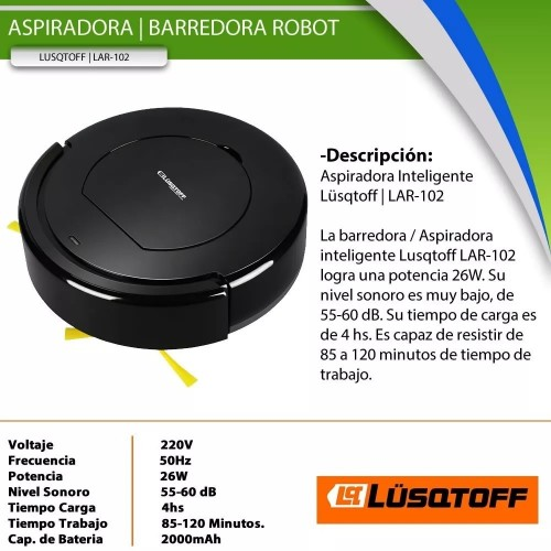 Aspiradora robotina LAR-102 Lusqtoff